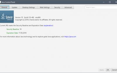 Java 64 bit 10.0.1 для Windows 10